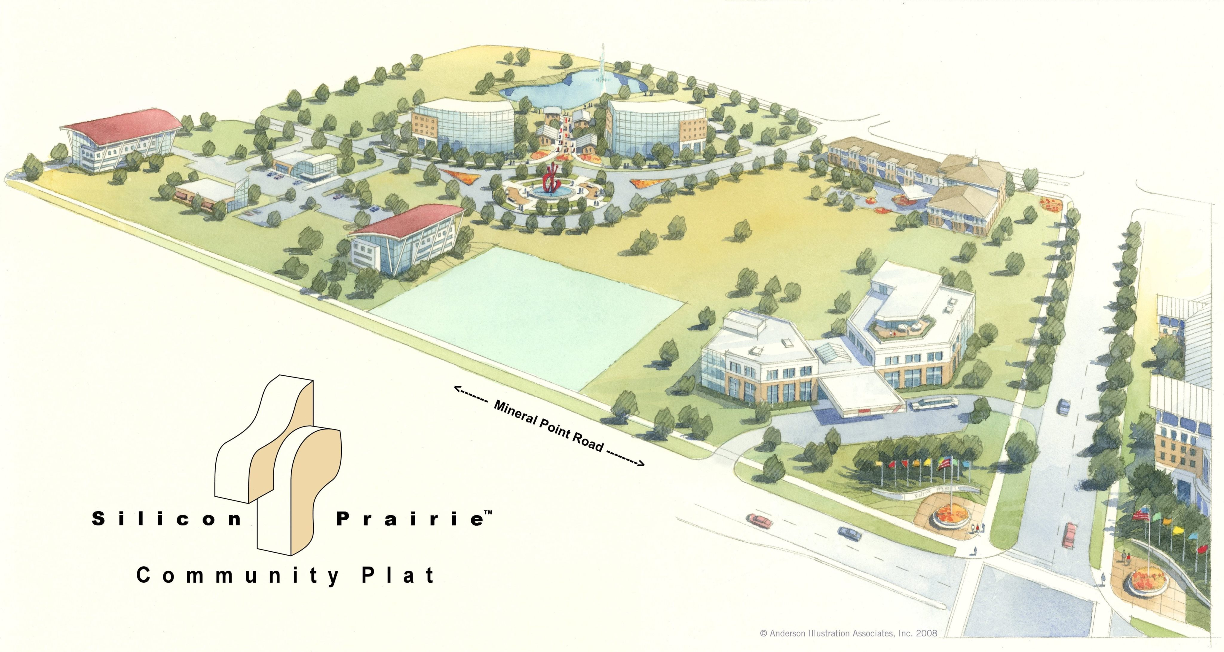 Rendering Anderson Illustration Associates © 2008 Silicon Prairie™ Community Plat